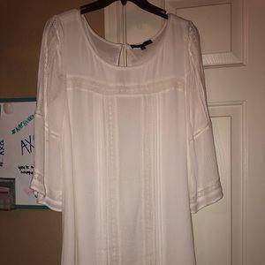3/4 sleeve white dress